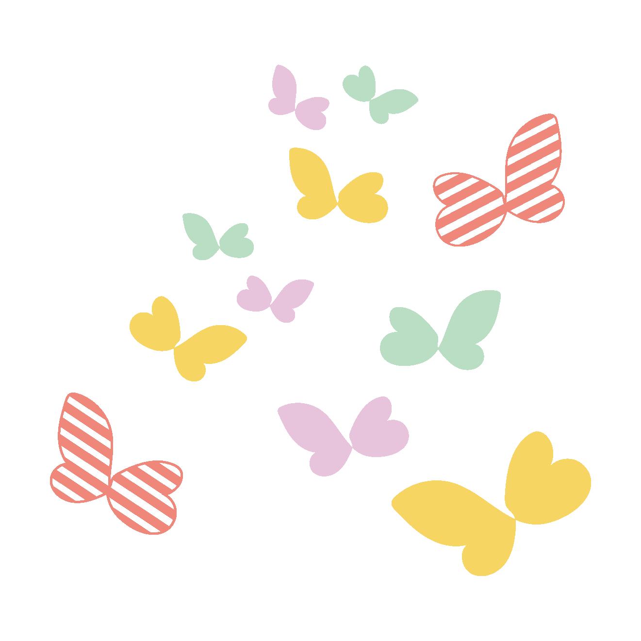 かわいい蝶(ちょう・ちょうちょ)のイラスト