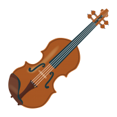 かわいい!ヴァイオリン(バイオリン) 無料(フリー)イラスト素材