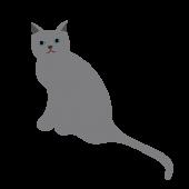 かわいい!ロシアンブルー(猫・ネコ・キャット)の 無料 イラスト