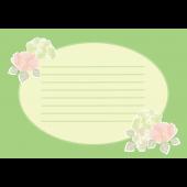 綺麗な 紫陽花(アジサイ)の便箋 (横型)イラスト
