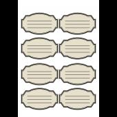 シンプルな宛名ラベル・メモ帳(住所欄付き)のイラスト【ひな形】