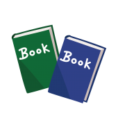 かわいい!本(ほん・ブック)の 簡単 ♪ フリー 素材 イラスト
