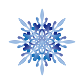 冬!ゴージャスな雪の結晶 無料 イラスト!