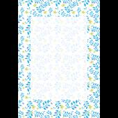 便箋(レターセット) テンプレート 葉っぱ&花柄  無料 イラスト