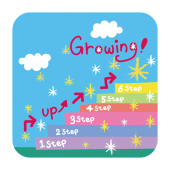 上昇 イメージ!Growing! 階段を上る!無料(フリー) イラスト
