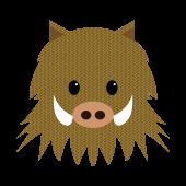 いのしし(イノシシ・猪)の かわいい 顔 無料 イラスト