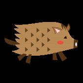 かわいい♪手書き風 イノシシ(亥・猪)のイラスト【動物】