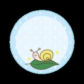 梅雨 ♪ カタツムリ のメモ帳(フレーム) テンプレート イラスト