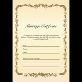 結婚証明書 テンプレート 英語  イラスト♪シンプルおしゃれに【縦】