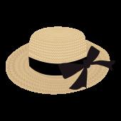 おしゃれ!麦わら帽子 リボン の フリー イラスト