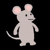 かわいい♪ネズミ(鼠・ねずみ)の 無料 イラスト