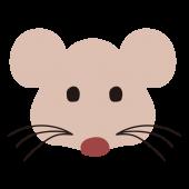 ネズミ(ねずみ・鼠)の顔の 無料 イラスト