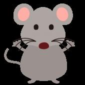 ネズミ(ねずみ・鼠)の全身の 無料(フリー)イラスト