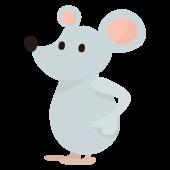 かわいい!ねずみ(ネズミ・鼠)の全身  無料 (フリー)イラスト
