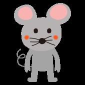 鼠(ネズミ,ねずみ)の かわいい 無料 イラスト