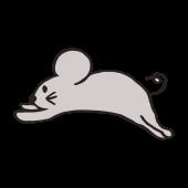 ネズミ(鼠,ねずみ)の かわいい 手書き イラスト! フリー