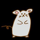 かわいい!ネズミ(鼠,ねずみ)!手書き デザイン  無料 イラスト!