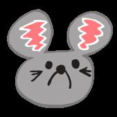 おしゃれ!ネズミ(鼠,ねずみ)!顔アップ!デザイン  無料 イラスト!