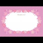 かわいい♪ 桜の便箋(レターセット)A4 テンプレート!イラスト