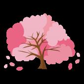 おしゃれでかわいい桜(サクラ・さくら)の木 イラスト