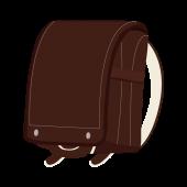 おしゃれ!人気の茶色(ブラウン)の ランドセル 無料 イラスト