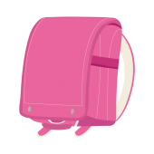 人気!ピンク色の ランドセル(女の子向け) フリー イラスト
