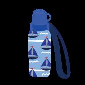 かわいい!こども用のヨット柄の水筒(すいとう)の 無料 イラスト