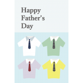おしゃれなお父さんに♪父の日のグリーティングカード(縦)無料 イラスト
