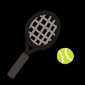 テニス のラケットとボールの手描き風 イラスト【スポーツ】