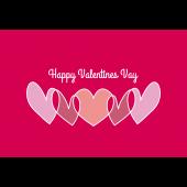 【グリーティング】バレンタインデー ハートのイラストカード赤