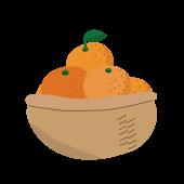 カゴ入り山盛りみかんのイラスト!【冬のフルーツ・果物】