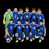 サッカー日本代表の 無料 イラスト【スポーツ・話題】