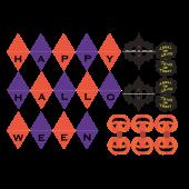ハロウィン 飾り「ガーランド」工作系 イラスト素材!【超おすすめ】