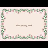 【グリーティング】お花のお礼・感謝イラストカード「Thank you very much」