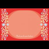 お礼・感謝イラストお花のグリーティンングカード