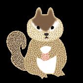 オシャレでかわいい♪「リス(栗鼠・りす)」の 無料 イラスト【動物】