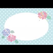 梅雨♪紫陽花(アジサイ)のかわいい ♪ フレーム イラスト