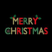 おしゃれな♪クリスマス(MERRY CHRISTMAS)英語の文字 イラスト