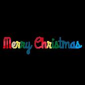 メリークリスマス!英語の筆記体文字(ロゴ)イラスト