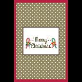 オシャレ♪クリスマスカード ハガキサイズ(148mm×100mm) イラスト