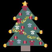 【クリスマス】クリスマスツリーの 無料 イラスト