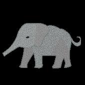 おしゃれ!象(ゾウ)の 無料 イラスト【動物】