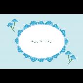ブルーカーネーション♪父の日の感謝の気持ちをカードに(横)イラスト
