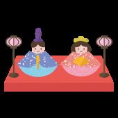 ひな祭り 無料 (フリー)イラスト♪ かわいい 雛人形