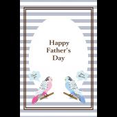 おしゃれなインコ♪父の日のグリーティングカード 無料 イラスト
