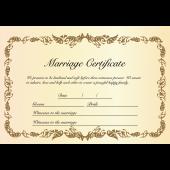 結婚証明書 テンプレート 英語 イラスト♪おしゃれに♪