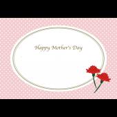 母の日!フレーム テンプレート(枠)カーネーション A4 イラスト