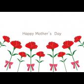 母の日カーネーションカード/はがきイラスト素材 Happy Mother's Day
