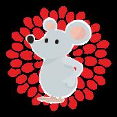 年賀状 2020年 子年(ネズミ年)かわいい フリー! ねずみの イラスト