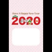 かわいい!年賀状 2020! ねずみ 年 無料 テンプレート イラスト(縦)